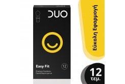DUO Easy Fit Προφυλακτικά για Εύκολη Εφαρμογή, 12 τεμάχια