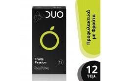 DUO Fruits Passion Προφυλακτικά με Γεύσεις, 12 τεμάχια
