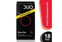 DUO Extra Thin Προφυλακτικά Πολύ Λεπτά, 18 τεμάχια