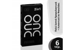Duo 2 in 1 Ultra Thin Πολύ Λεπτά Προφυλακτικά, 3τμχ & Φακελάκια Duo Gel Natural Λιπαντικό, 3 x 2ml
