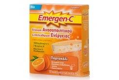 Emergen C 1000mg Συμπλήρωμα Διατροφής με Βιταμίνη C με Επιπλέον Βιταμίνες, Μέταλλα & Ιχνοστοιχεία για Ενίσχυση του Ανοσοποιητικού Συστήματος - Γεύση Πορτοκάλι, 10 φακελάκια