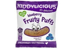 Kiddylicious Blueberry Fruity Puffs 7m+ Γαριδάκια Μύρτιλο, 10gr
