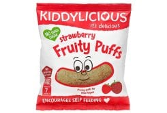 Kiddylicious Strawberry Fruity Puffs 7m+ Γαριδάκια Φράουλα, 10gr