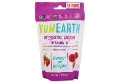Yumearth Organic Pops Vitamin C Βιολογικά Γλειφιτζούρια Φρούτων με Βιταμίνη C, 14 τεμάχια (85gr)