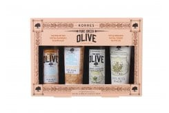 Korres Pure Greek Olive Mini Collection Set with 1 x Nourishing Shampoo, 40ml & 1 x Nourishing Conditioner, 40ml & 1 x Olive Blossom Showergel, 40ml & 1 x Olive Blossom Body Cream, 40ml