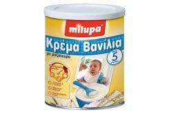 Milupa Κρέμα, Βανίλια με Ρυζάλευρο, από τον 5ο μήνα, για την πρώτη περίοδο του απογαλακτισμού, χωρίς γλουτένη, 300gr