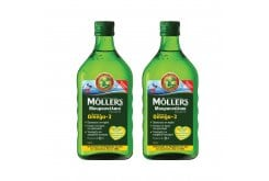 2 x Moller's Μουρουνέλαιο Lemon Παραδοσιακό Μουρουνέλαιο σε Υγρή Μορφή με Γεύση Λεμόνι, 2 x 250ml