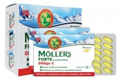 Moller's Forte Cod Liver Oil Mixture of Fish Oil & Cod Liver Oil Rich in Omega 3, 150 caps