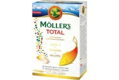 Moller's Total Complete Nutritional Supplement with Omega3, Vitamins & Minerals, (28 caps + 28 tabs)
