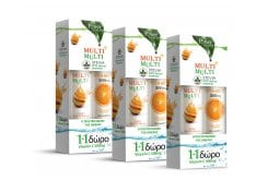 3 x Power Health (1+1 ΔΩΡΟ) με Multi + Multi με Στέβια Αναβράζουσα Πολυβιταμίνη με Γεύση Ροδάκινο, 3 x 20 eff. tabs & μαζί Vitamin C 500mg Αναβράζουσα Βιταμίνη C με Γεύση Πορτοκάλι, 3 x 20 eff. tabs