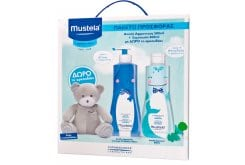 Mustela PROMO PACK Gentle Cleansing Gel, 500ml & Gentle Shampoo, 500ml & FREE Teddy Bear
