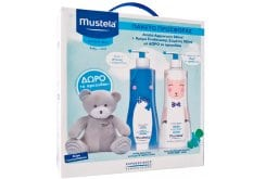 Mustela PROMO PACK Gentle Cleansing Gel, 500ml & Hydra Bebe Body Lotion, 500ml & FREE Teddy Bear