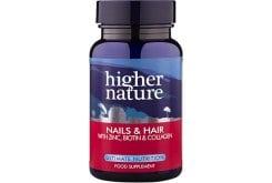 Higher Nature Nails & Hair Formula Φόρμουλα για Όμορφα Μαλλιά & Νύχια, 120 Κάψουλες