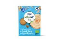 Nestle Naturnes Bio Organic Cereals with Wheat & Oats & Biscuit Flavor 6m+, 200gr