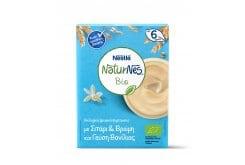 Nestle Naturnes Bio Βιολογικά Δημητριακά με Σιτάρι, Βρώμη & γεύση βανίλιας 6m+, 200gr