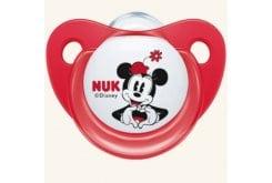 Nuk Trendline Disney Mickey Πιπίλα Σιλικόνης με Κρίκο, από 6-18 μηνών, 1 τεμάχιο - Κόκκινο