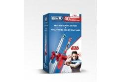 Oral-B Pro 600 CrossAction + Vitality Kids Disney Star Wars Ηλεκτρικές οδοντόβουρτσες, 2τμχ