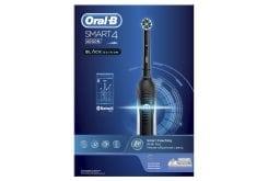 OralB Smart 4 4000 Black Edition Ηλεκτρική Οδοντόβουρτσα, 1 τεμάχιο
