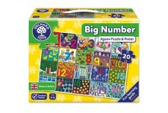 Orchard Toys Big Number Jigsaw Puzzle for Ages 3-6, 20 pcs