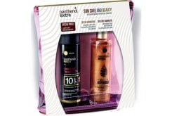Panthenol Extra Sun Care and Beauty with Sun Care Tanning Oil SPF10 Sunscreen Tanning Oil, 150ml & Gift Shimmering Dry Oil Iridescent Dry Oil, 100ml