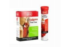 PROMO PACK Lanes Kcaligram Feel Free, 16 tabs& Lanes Xtra Energy, 20 effervescent tabs & FREE Flask