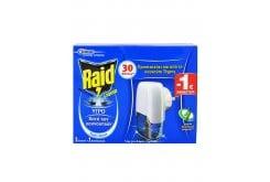 Raid Liquid Υγρό Σετ 30 Νύχτες Αντικουνουπική Συσκευή για Εσωτερικούς Χώρους, 1 Συσκευή + 1 Ανταλλακτικό