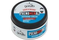 Schwarzkopf Got2B Phenomenal Defining Cream Styling Cream for Hair & Beard, 100ml