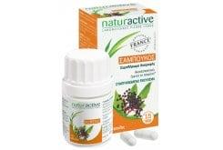 Naturactive Σαμπούκος (Μούρα Κουφοξυλιάς) για την Αντιμετώπιση της Γρίπης & το Κρυολογήματος, 30tabs