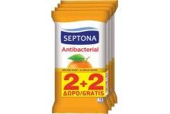 Septona Antibacterial, Αντιβακτηριδιακά Μαντήλια Χεριών με Άρωμα Ανθός Πορτοκαλιού, 2x15 τεμάχια + (2x15 ΔΩΡΟ)