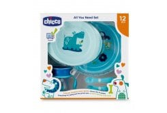 Chicco Chicco All You Need Set Σετ Φαγητού για 12m+ σε Μπλε χρώμα, 5τμχ