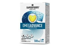 Superfoods Omegadvance 500mg Συμπλήρωμα Διατροφής με Ιχθυέλαιο Υψηλής Ποιότητας & Καθαρότητας, 30caps