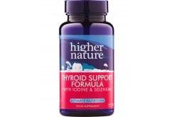 Higher Nature Thyroid support Formula Συμπλήρωμα Διατροφής για την Υγεία του Θυρεοειδούς Αδένα , 60 φυτικές κάψουλες