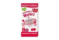 Kiddylicious Strawberry Wafers 6m+ , 20gr - 10pc