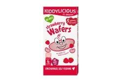 Kiddylicious Strawberry Wafers Mini 6m+ Ρυζογκοφρέτα Φράουλα, 20gr - 10 τεμάχια
