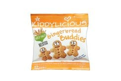 Kiddylicious Gingerbread Buddies 12m+ Μπισκότα Τζίντζερ, 20gr