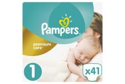 Pampers Premium Care Value Pack No.1 (Newborn) 2-5 kg Βρεφικές Πάνες, 41 τεμάχια