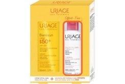 Uriage PROMO PACK Bariesun Cream SPF50+, 50ml & Eau Thermale Eau Micellaire Sensitive Skin, 100ml