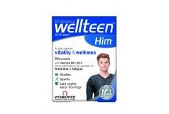 Vitabiotics Wellteen Him Συμπλήρωμα Διατροφής για εφήβους & νέους άντρες 13-19 ετών, 30 tabs