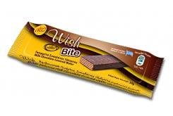 Wish Bite Wafer with Hazelnut Praline, Chocolate Coating & Sweeteners, 30g