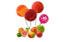 Yumearth Βιολογικά Γλειφιτζούρια Φρούτων, 10 τεμάχια