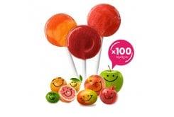 Yumearth Party Time Βιολογικά Γλειφιτζούρια Φρούτων, 100 τεμάχια - Πακέτο Ιδανικό για Παιδικό Πάρτυ