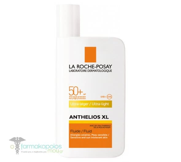 La Roche Posay Anthelios XL Fluid Ultra-Light with Perfume SPF50+ Λεπτόρρευστη Αντηλιακή Κρέμα Προσώπου με Άρωμα, 50ml