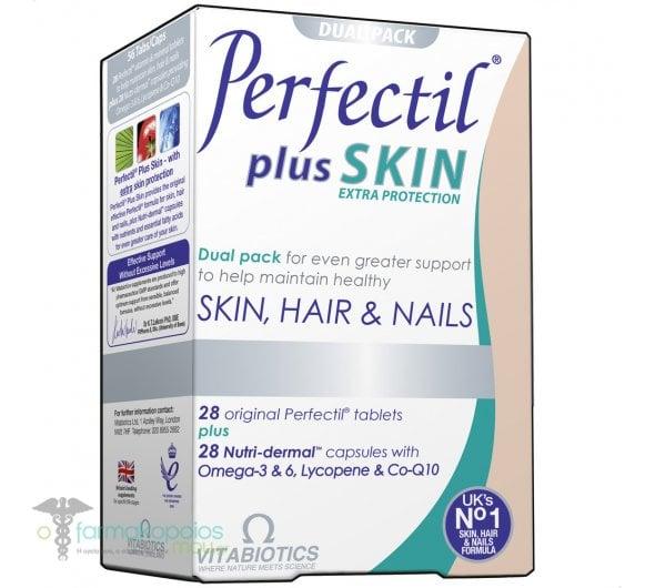 Vitabiotics Perfectil Plus Skin, 28 ταμπλέτες Perfectil + 28 δερμο-θρεπτικές κάψουλες
