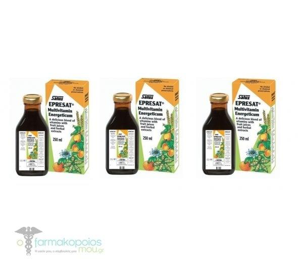3x Power Health Epresat σιρόπι, 3x 250 ml