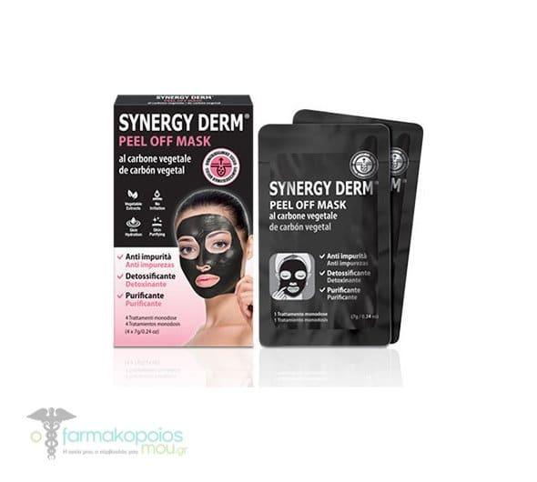 Fadopharm Synergy Med Peel Off Black Mask Μαύρη Μάσκα Καθαρισμού μεενεργό φυτικό άνθρακα, 4 x 7 gr