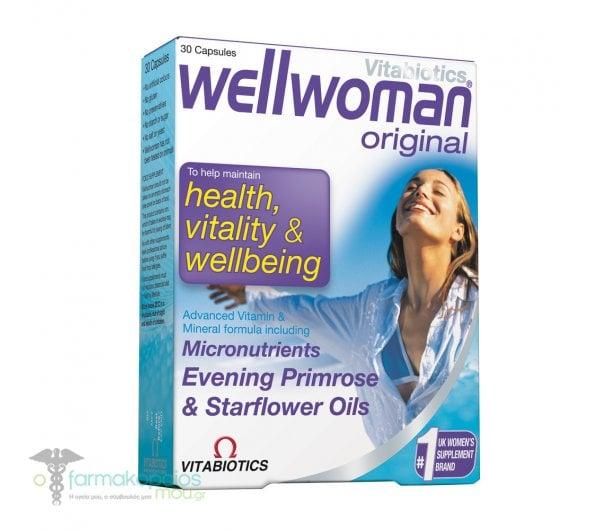 Vitabiotics Wellwoman Original, 30 κάψουλες