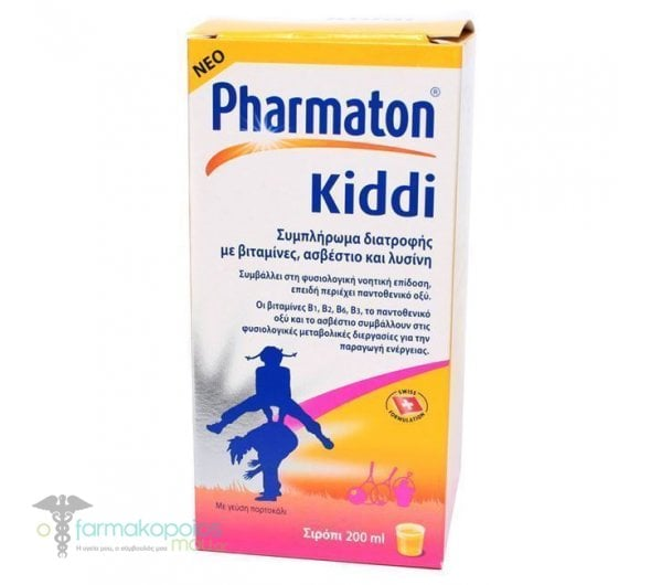 Boehringer Ingelheim Pharmaton Kiddi Syrup Πολυβιταμινούχο Σιρόπι για Παιδιά, με Γεύση Πορτοκάλι, 200ml