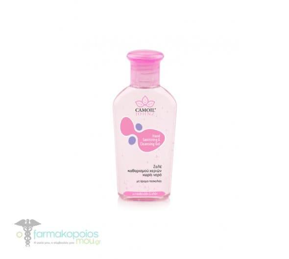 Camoil Johnz Hand Sanitizing & Cleansing Gel Ζελέ Καθαρισμού Χεριών χωρίς Νερό, με άρωμα Πασχαλιάς, 80 ml