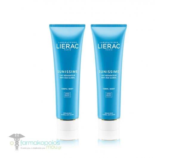 2 x Lierac Sunissime Lait Reparateur Rehydratant Anti-Age Global Γαλάκτωμα Ανάπλασης, Ενυδάτωσης & Ολικής Αντιγήρανσης για μετά τον ήλιο, για το σώμα, 2 x 150ml