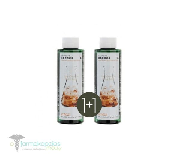 Korres Female Hair Loss Shampoo 250ml 1 + 1 GIFT with Cystine & Glycoproteins